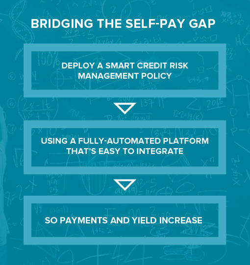 Bridging the self-pay gap flow chart
